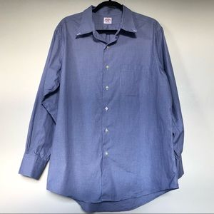 Brooks Brothers Mens Shirt XL Long Sleeve Blue